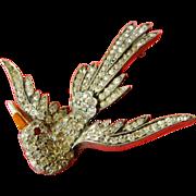 Great vintage-Jeweled bird-Pin