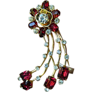 Vintage-jeweled dress/fur-Pin