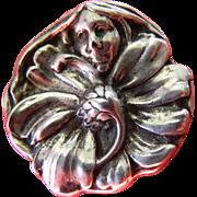 silver- Face pin