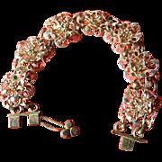 Intricate silver-Link panel Bracelet