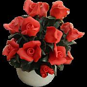 Gorgeous red roses- Capodimonte