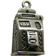 Adorable- detailed- Sterling slot machine-Charm