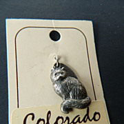 Sterling-Kitty charm