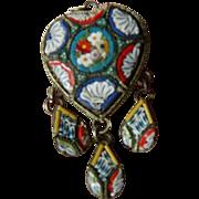 Micro Mosaic- dangling Pendant