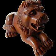 SOLD Beautiful Hand carved-Lion netsuke
