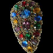 Vintage-brilliant-Jeweled dress/fur clip