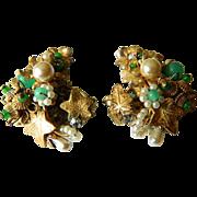 Signed Eugene-earrings- 1950's
