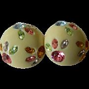 SALE 1950's jeweled Earrings