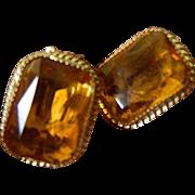 Elegant- large stone Earrings- Whiting-Davis