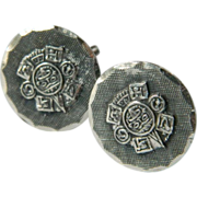 Hand made- Mexican sterling- Cuff links