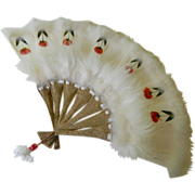 SOLD Beautiful hand made Feathered fan