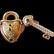 Lock and Key pin- signed Nolan Miller