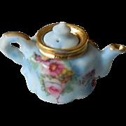 Micro mini- tiny hand painted-Tea pot miniature
