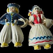 Vintage celluloid-Dutch couple pins