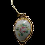 Porcelain Limoges egg-Pendant