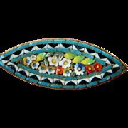 Vintage -Italian made- micro mini-Mosaic pin