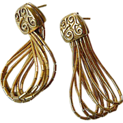 Marked sterling-gold plated earrings