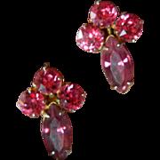 Lovely 1930's glass Stone earrings