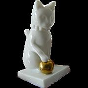 Franklin Mint curio box-Cat