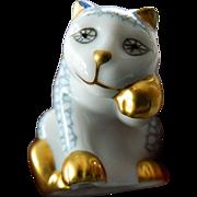 Franklin Mint- Curio box- Porcelain cat figure
