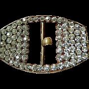 SALE Dazzling- Czech made-vintage Belt buckle