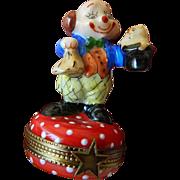 Fabulous little Clown Trinket Box-Limoges