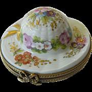 """SALE Delightful Limoges """"Hat"""" Trinket box"""