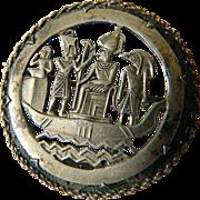 silver- Egyptian -1920-1930- Pin