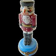 SALE Fine Limoges porcelain Trinket box-Nutcracker