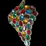 Brilliant-1900-1910- glass stone Dress clip