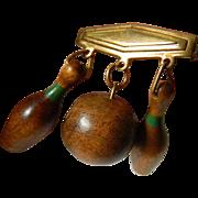 vintage carved wood- Pin