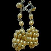 Lovely vintage-Wedding earrings-1920's