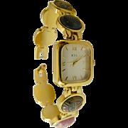 SALE Beautiful-natural stone-KJL-Kenneth J. Lane wrist watch