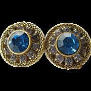 Lovely glass stones-Clip earrings