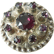 Sterling silver pin with beautiful amethyst color Stones