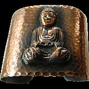 Bold hammered copper- Wide  cuff bracelet
