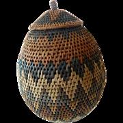 """Hand made- South African-""""Zulu"""" basket"""