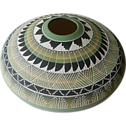 SOLD Stunning Southwest-Navajo incised clay pot- Signed- Victor King