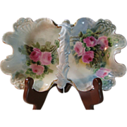 Hand Painted Jean Pouyat Limoges Basket/Candy Dish