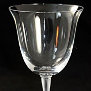 "Lalique ""Barsac"" Pattern Water Goblet"