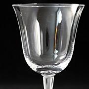"""Lalique """"Barsac"""" Pattern Burgundy Goblet"""