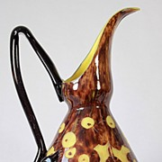 "Le Verre Francais ""Chene""  Pattern Cameo Pitcher by Schneider"