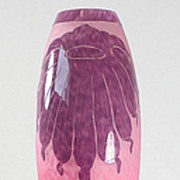 "Le Verre Francais ""Dahlia""  Pattern Cameo Vase by Schneider"