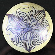 SOLD Smyers Pulled Pattern Iridescent Paperweight