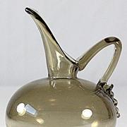 Schneider Brown Tinted Glass Ewer
