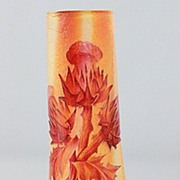 Daum Nancy Thistle Pattern Cabinet Vase