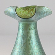SOLD Loetz Papillon Vase with Shaped Rim