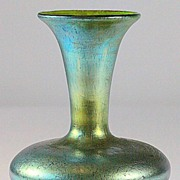 SOLD Loetz Norma Pattern Blue Iridescent Flared Vase