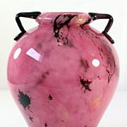 """Schneider Pink """"Marbrines"""" Vase"""