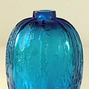 """SOLD Ren© Lalique Electric Blue """"Fontaines"""" Vase"""